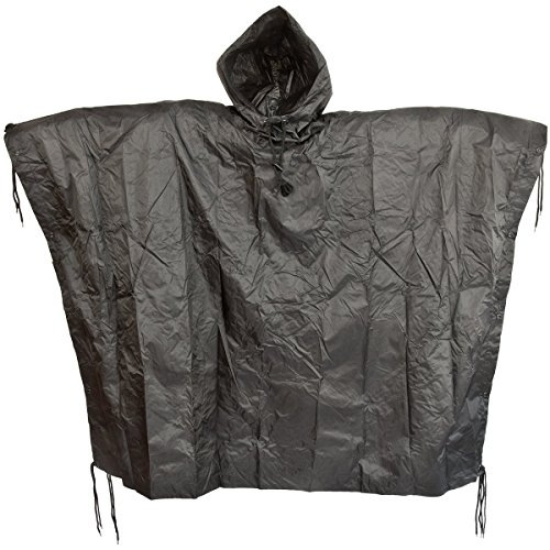 Waterproof ripstop hooded festival ponch