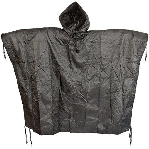 Waterproof ripstop hooded festival ponch